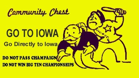 Iowa Monopoly card
