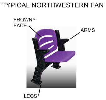Northwestern fan