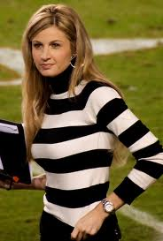 Erin Andrews striped shirt